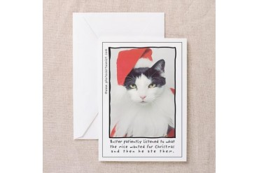 Buster patiently listened Funny Greeting Cards Pk of 10 by CafePress