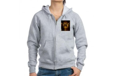 oldcitystreetgreenlight.jpg Travel Women's Zip Hoodie by CafePress