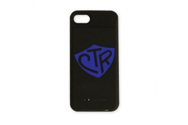 CTR Ring Shield Blue Blue iPhone Charger Case by CafePress
