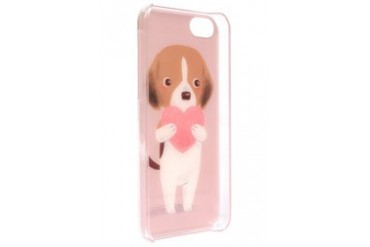 White Puppy with Heart iPhone 5C Case