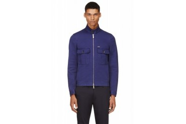Dsquared2 Navy Cotton Twill Jacket