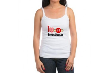 Top Investigator Occupations Jr. Spaghetti Tank by CafePress