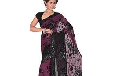 Enigmatic Embroidered Chiffon Saree