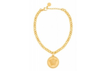 Versace Gold Medusa Medallion Chain Necklace