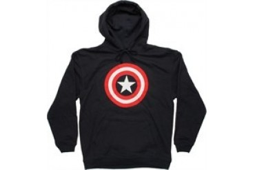Marvel Comics Captain America Shield Logo Pullover Hooded Sweatshirt