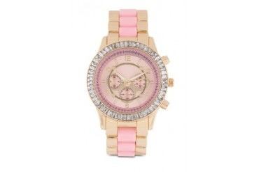Something Borrowed Dual Tone Large Face Analogue Watch