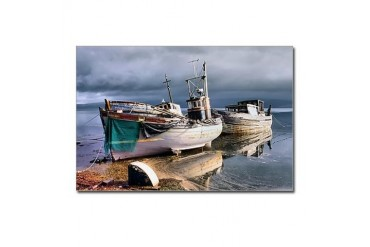 Old fishing boats Vintage Postcards Package of 8 by CafePress