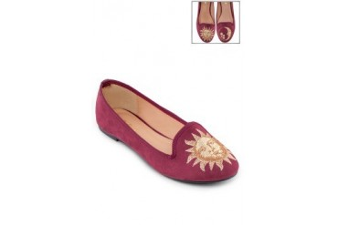 EZRA by ZALORA Sun And Moon Slip On Ballerina Loafers