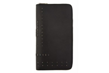 Rick Owens Black Leather Zipped Clutch Wallet