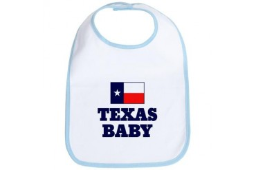Texas Baby Baby girl Bib by CafePress