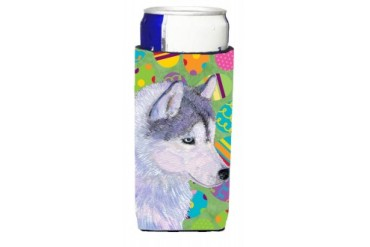 Siberian Husky Easter Eggtravaganza Ultra Beverage Insulators for slim cans