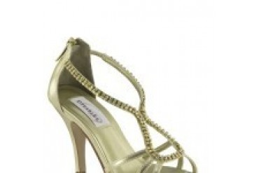 Dyeables Shoes - Style Josie Gold Metallic 34014