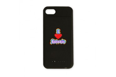 Antonio100.png Love iPhone Charger Case by CafePress