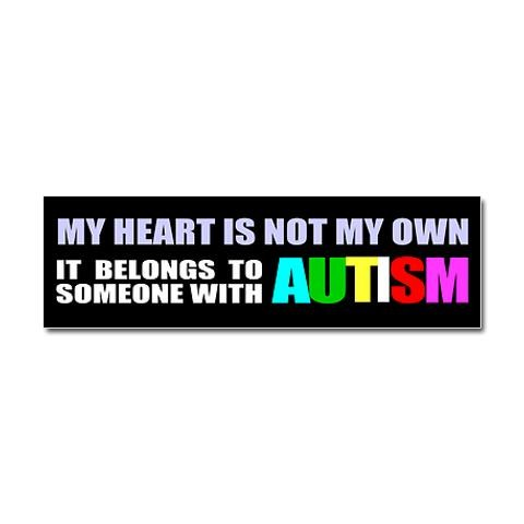 Autism owns my heart car magnet 10 x 3