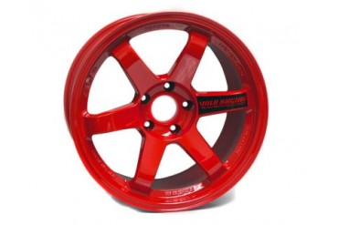 Volk Racing TE37SL Red Wheel Set 18x9.5 Mitsubishi EVO VIII IX X 03