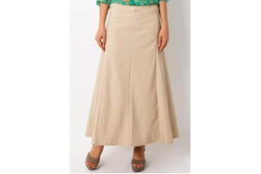 Triset Ladies Beige Long Skirts
