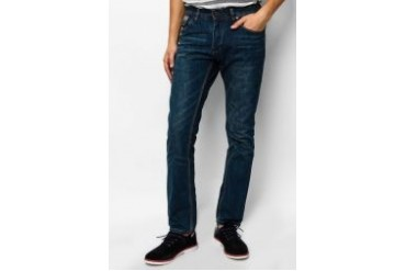 Criss Cross Whisker Washed Jeans