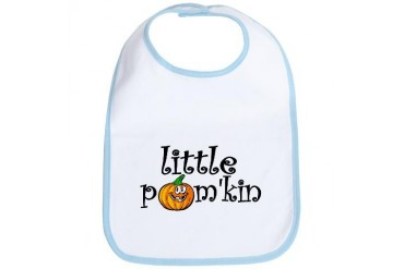 Little Pumpkin Baby girl Bib by CafePress