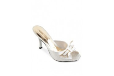 Satryani by Shoeville Slip On Heels with Bow