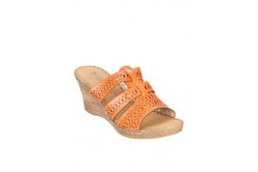 Swiss Polo Slip On Wedges With Cutout Details
