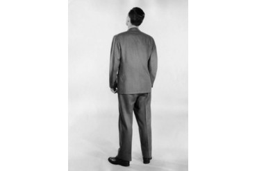 Rear view of businessman standing Poster Print (18 x 24)