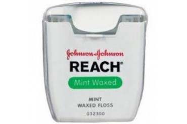 Johnson amp Johnson Waxed Floss Mint 55 Yards Package