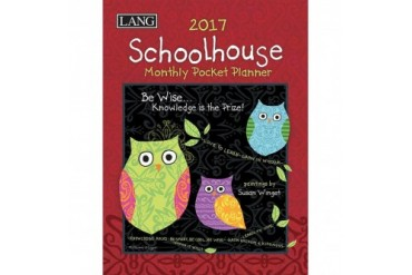 Susan Winget Schoolhouse Monthly Planner with Pocket