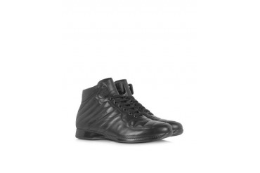 High Top Padded Leather Sneaker