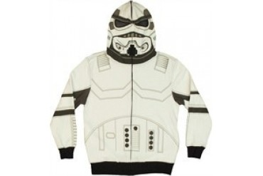 Star Wars Stormtrooper Closed Hood Full Zipper Hooded Youth Sweatshirt