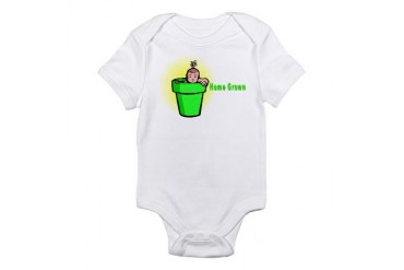 Home Grown Baby Infant Bodysuit by CafePress