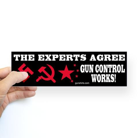 Experts agree gun control works sticker bumper