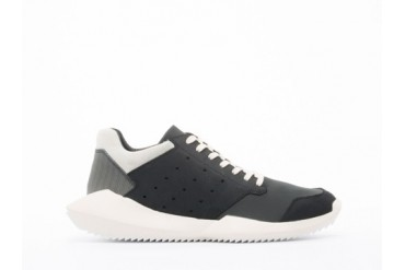 Adidas Originals X Rick Owens Tech Runner in Black Bone size 11.0
