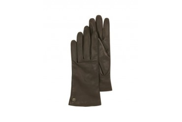 Dark Brown Leather Women's Gloves w/Cashmere Lining