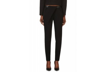 Dion Lee Black Compact Stretch Exit Trousers