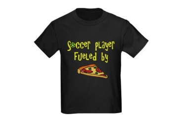 Soccer player fueled by pizza Kids Dark T-Shirt