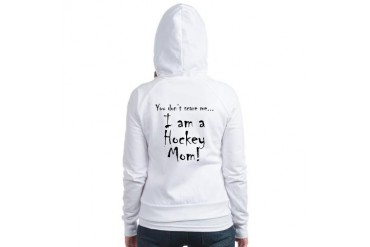 You don't scare me...hockey mom Family Jr. Hoodie by CafePress