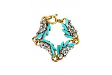 Saturation Mint and Rhinestone Bracelet