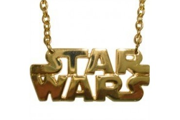 Star Wars Die Cut Name Gold Color Necklace