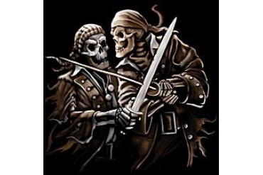 Pirate Skeletons Sword Fight T-Shirt