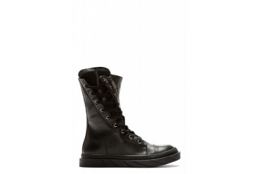 D.gnak By Kang.d Black Angled Zip Leather Boots
