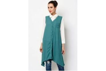 Ethnic Chic Ayu Sleeveless Asymetrical Hem Top
