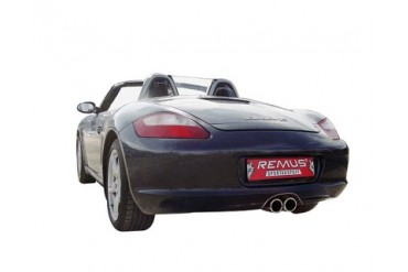 REMUS Stainless Muffler with 90mm Dual Tips Porsche Boxster 987 2.7L 05-08