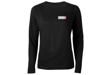 Social Pink Rectangle Women's Long Sleeve Dk T Progressive Women's Long Sleeve Dark T-Shirt by CafePress