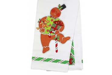 Candy Cane Gingerbread Flour Sack Cotton Pantry Towel