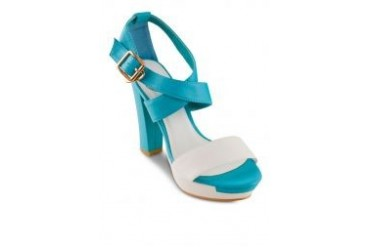 Sidewalk Sandal Wedge with Contrast Ankle Strap