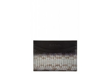 Paul Smith Black Snakeskin Cardholder
