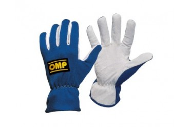 OMP Rally Gloves Black Lg