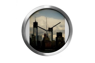 World Trade Center, New York New york Modern Wall Clock by CafePress