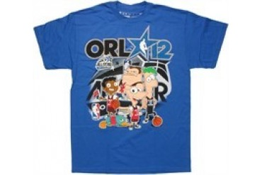 Disneys Phineas and Ferb NBA 2012 Orlando T-Shirt