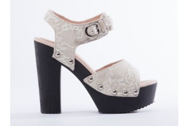 Ego and Greed Carleen Hi in White Lace size 8.0